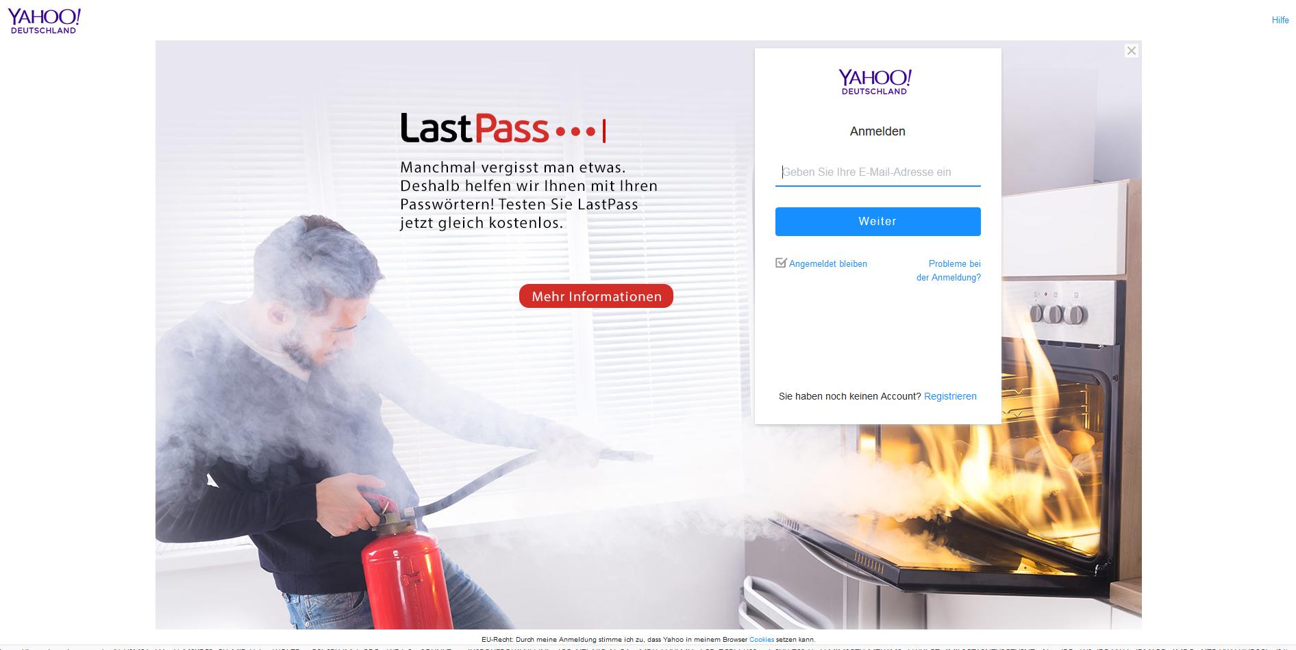 Deutschland anmelden yahoo Yahoo