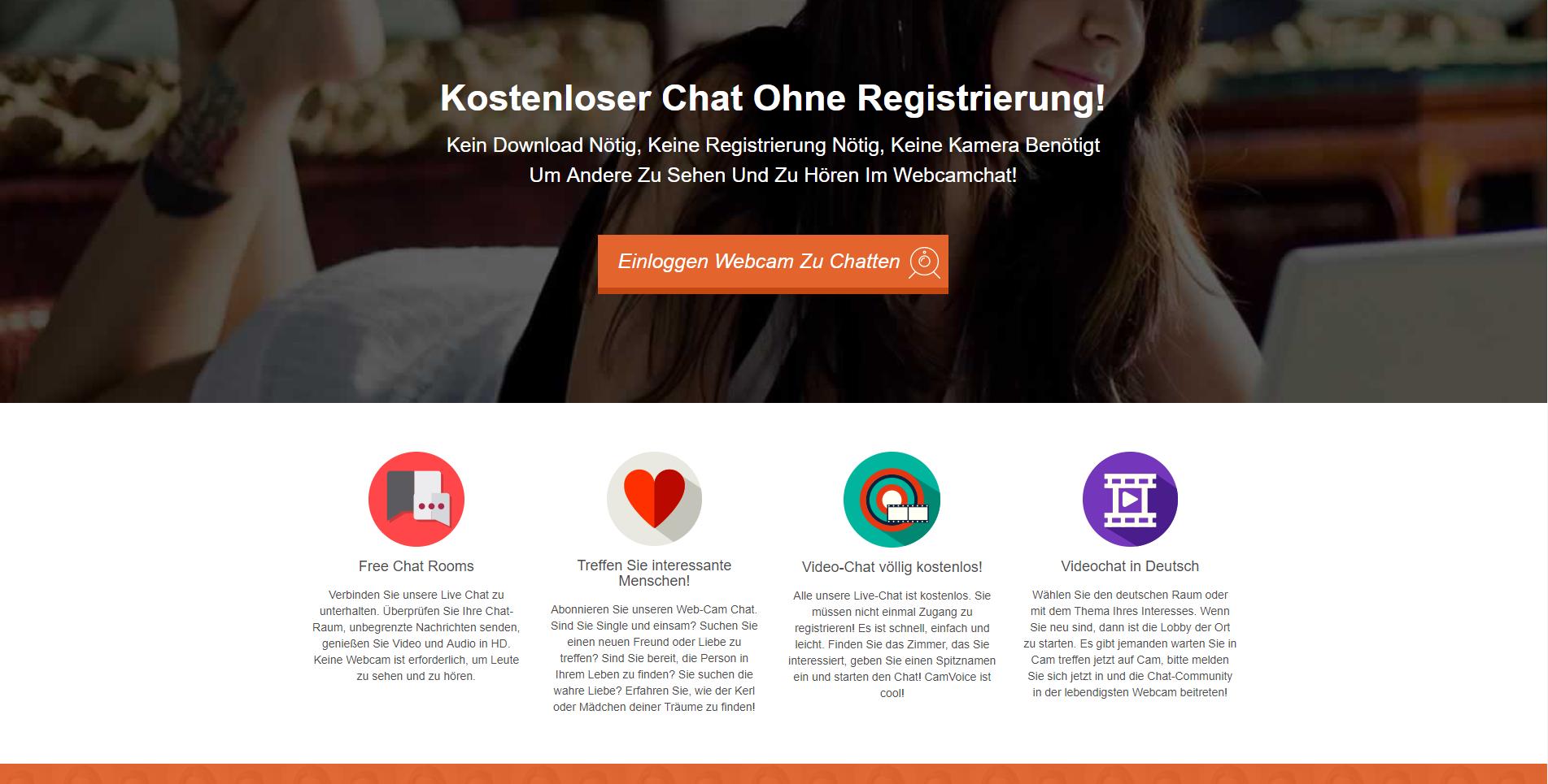 kostenloser cam chat ohne registrierung