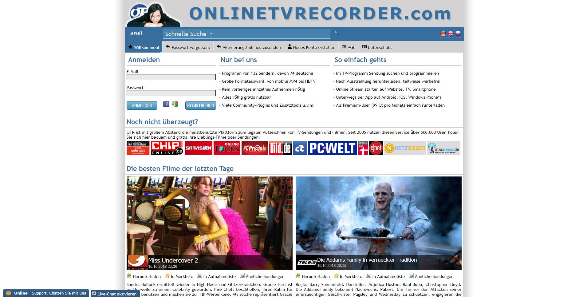 Alternativen zu Videoportal Online TV Recorder - Die