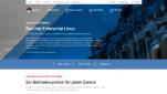 Red Hat Enterprise Linux Betriebssysteme für Unternehmen Startseite Screenshot 1