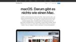 macOS Betriebssysteme Apple Startseite Screenshot 1