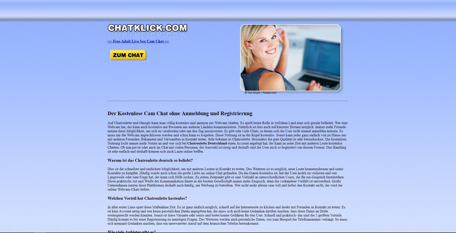 chatroulett deutsch ohne registrierung