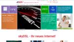 skyDSL Internetprovider Startseite Screenshot 1