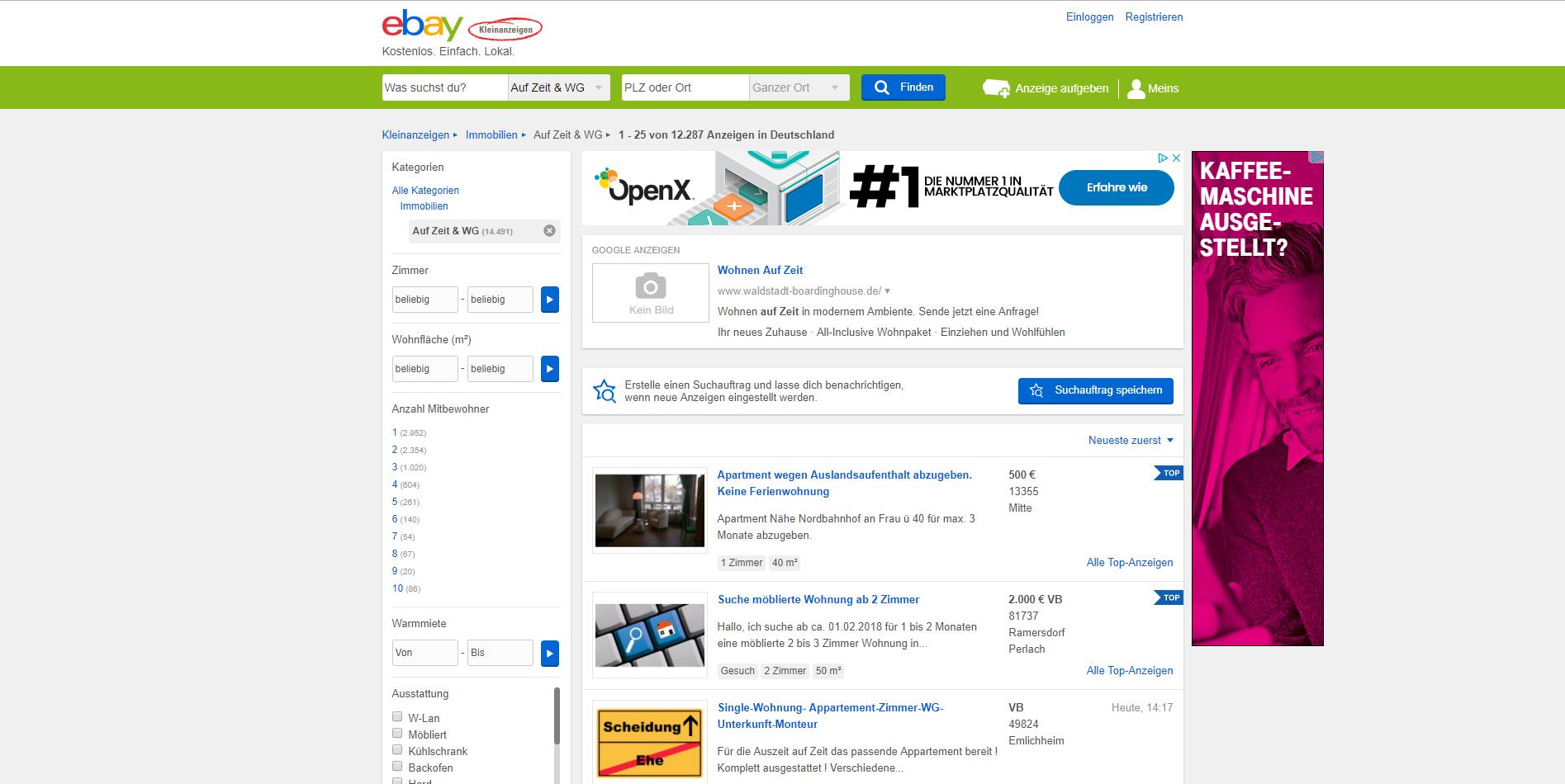 alternativen zu ebay kleinanzeigen immobilien die besten ebay kleinanzeigen immobilien. Black Bedroom Furniture Sets. Home Design Ideas