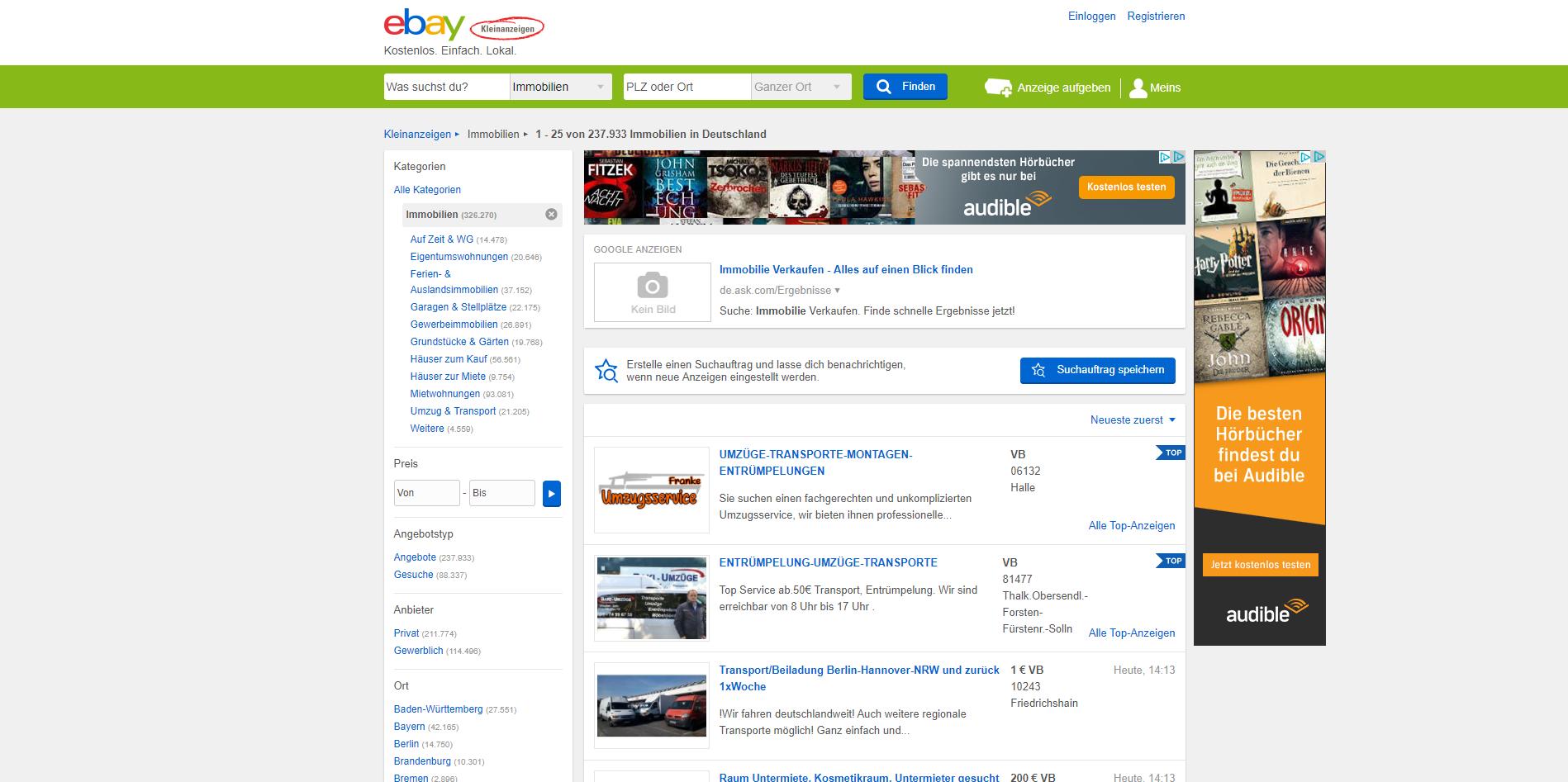 Alternativen zu eBay Kleinanzeigen Immobilien - Die besten