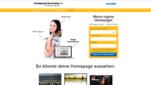 Homepage-Baukasten.de Homepage Baukästen Webseite erstellen kostenlos Homepage erstellen Startseite Screenshot 1