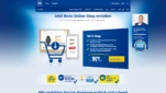 1und1 Onlineshop System E-Commerce Software Startseite Screenshot 1