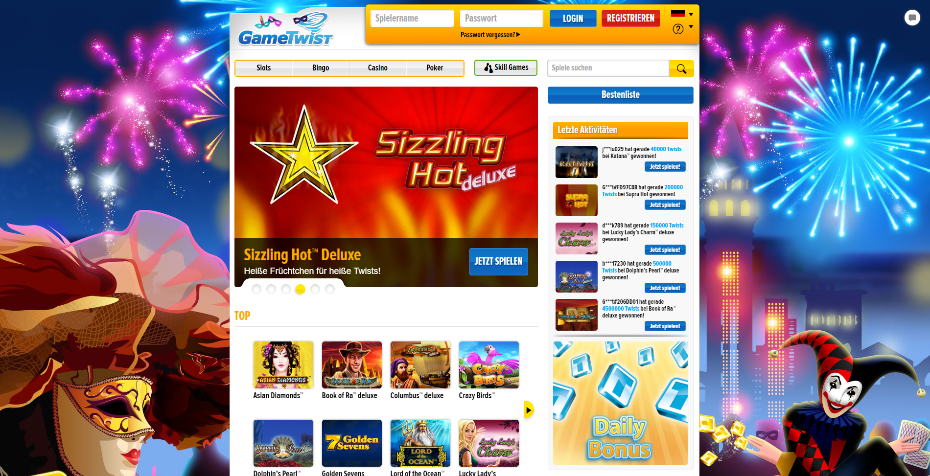 All slots 50 free spins