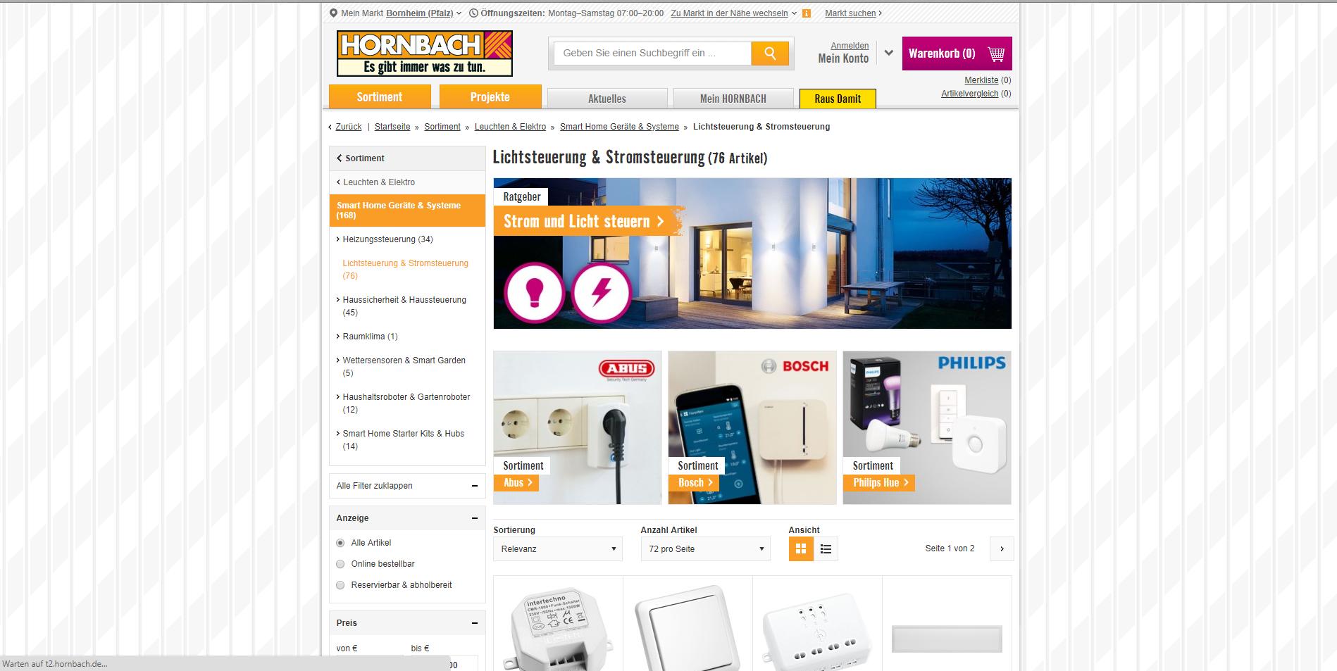 hornbach smart home anbieter licht und stromsteuerung screenshot 3 azu. Black Bedroom Furniture Sets. Home Design Ideas