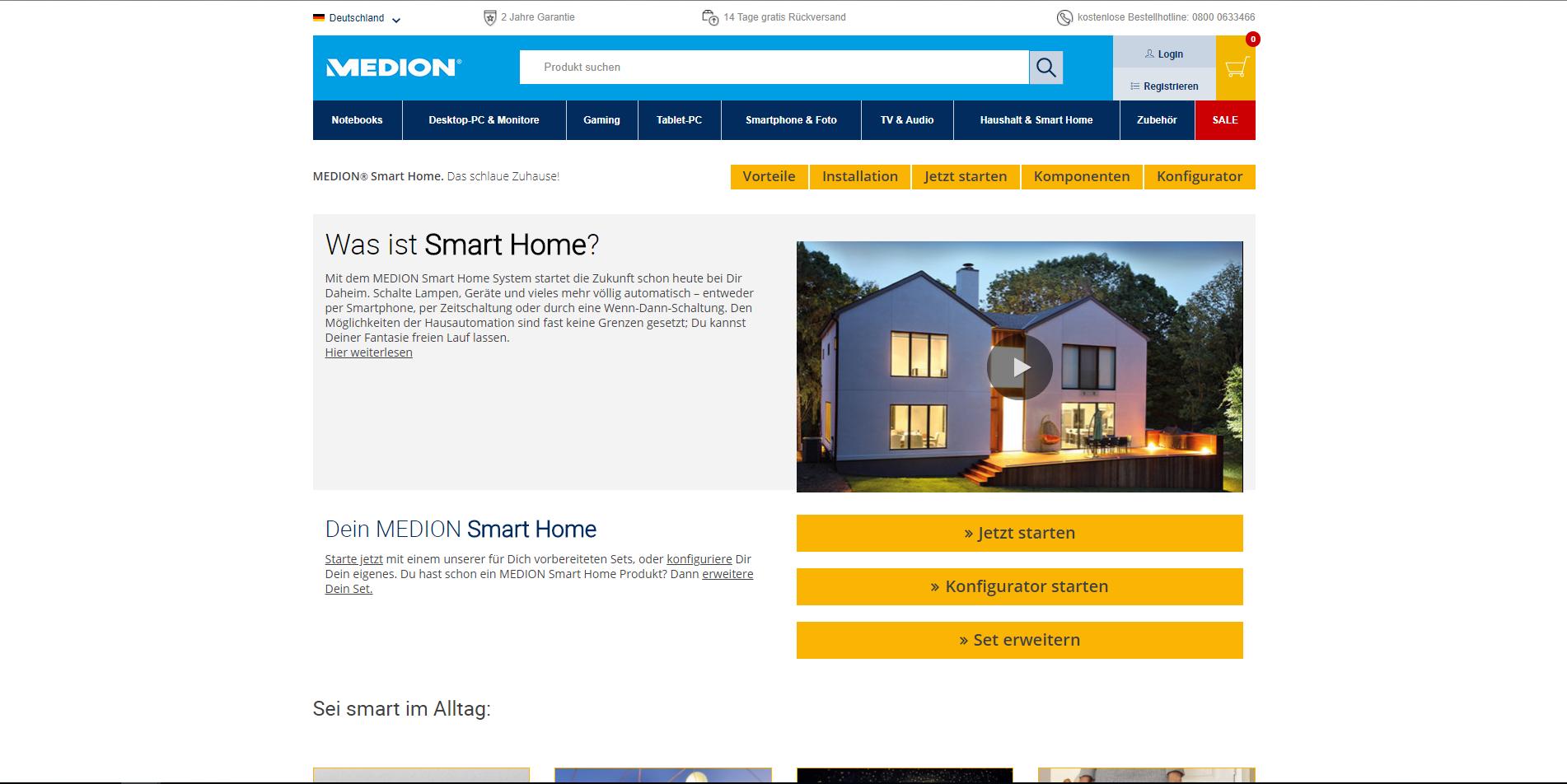 alternativen zu medion smart home die besten medion. Black Bedroom Furniture Sets. Home Design Ideas