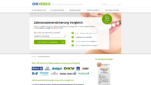 ONVERSO Zahnzusatzversicherung Vergleich Startseite Screenshot 1