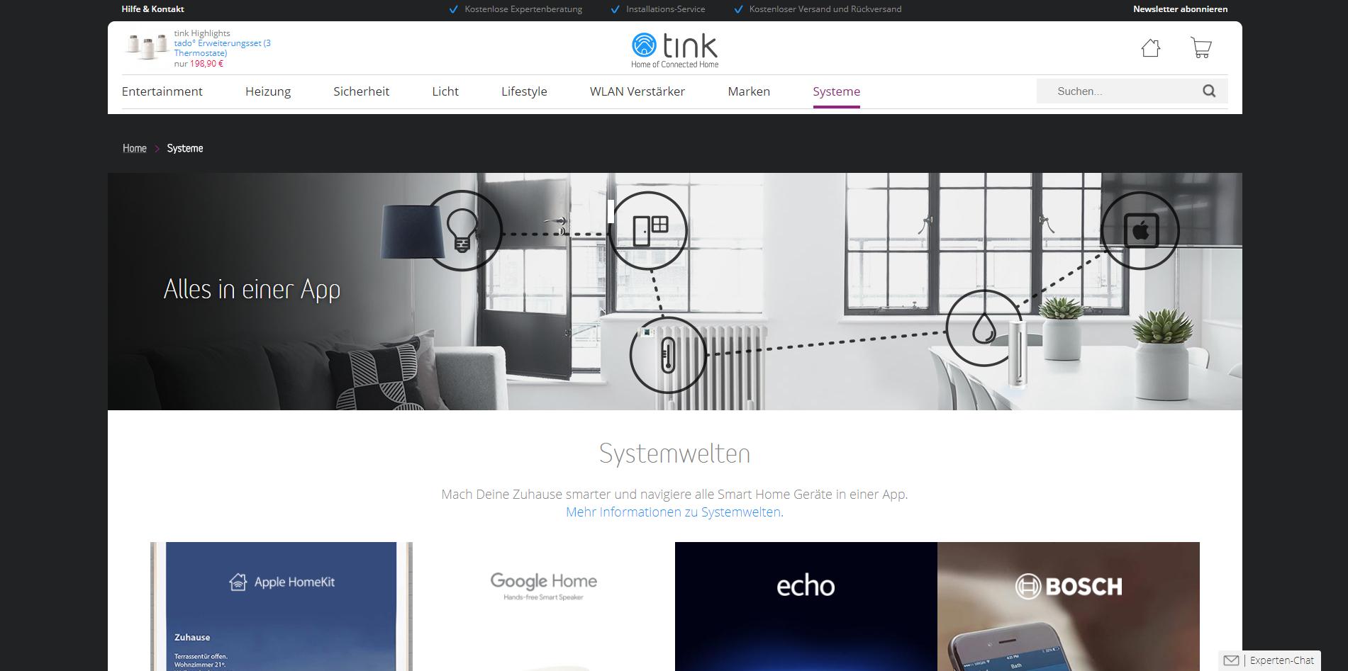 alternativen zu tink smart home die besten tink smart. Black Bedroom Furniture Sets. Home Design Ideas
