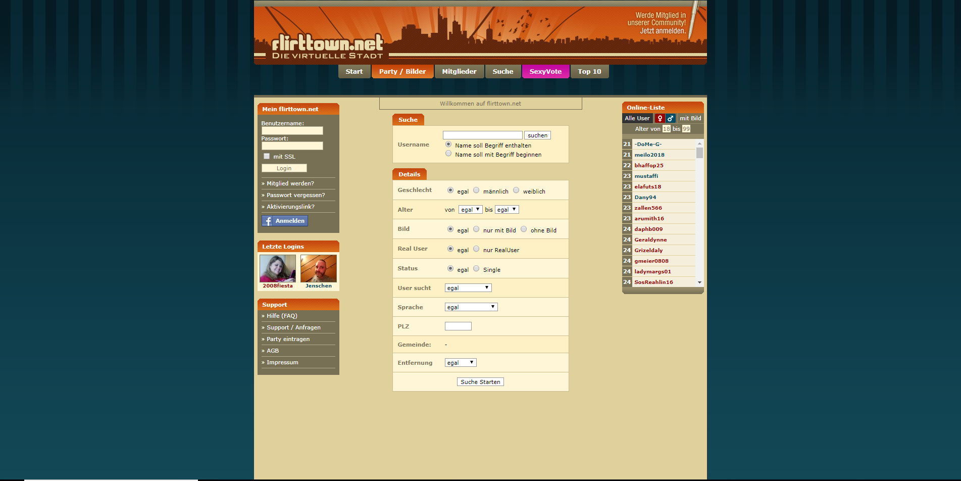 flirttown.net Partner Suche Suche Screenshot 2 | AZU