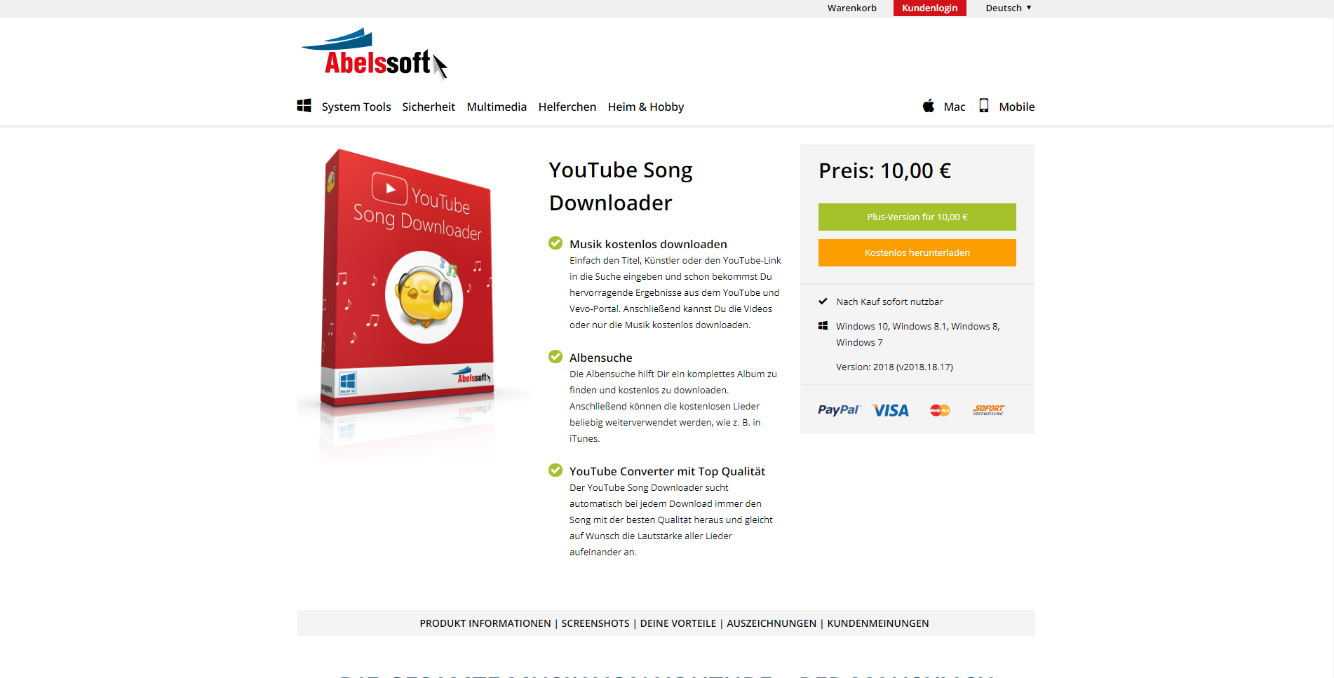 abelssoft youtube song downloader kostenlos
